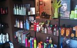 Products selection at kj Hair Spa, Apex NC